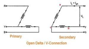 open delta or v connection of transformer etrical