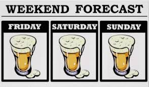cartoon beer pint forecast expect heavy drinking