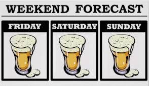 cartoon beer pint forecast expect heavy drinking