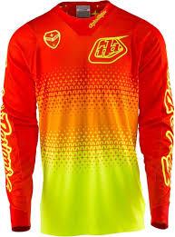 troy lee motocross gear troy lee designs se air starburst jersey gelb orange motocross