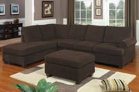 Corduroy Sectional Sofa Chocolate Corduroy Sectional Sofa Ottoman