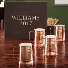 engraved wooden gifts copper steins with engraved wooden gift box
