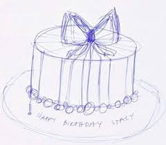 design a cake purple striped birthday cake talk sweet to me