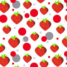 strawberry margarita clipart premium gift wrap wrapping paper roll pattern food drink bacon