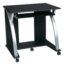 Small Desks For Small Spaces Desk Small Computer Desk With Casters Amazing Black Contemporary
