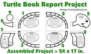 grade book report template turtle book report project templates printable worksheets and