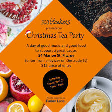 300 blankets christmas tea party melbourne