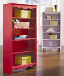 Cool Bookcase Ideas Beautiful Pink Painted Bookcase With Cheerful Design Photos 10