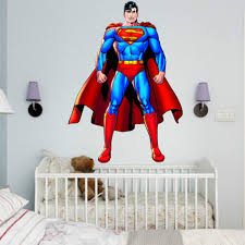 Superman Room Decor by Superman Wall Sticker Decor Decal Vinyl Room Art Comics Decals 3d