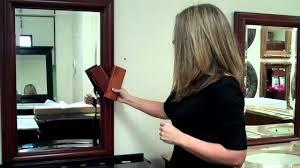 cherry bathroom mirror matching a bathroom mirror with a vanity a cherry finish exle