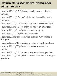 Medical Transcription Resume Sample by Medical Transcription Manager Jobs