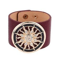 buckle leather bracelet images 2018 new fashion leather bracelets for women wide circle buckle jpg