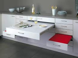 kitchen space saving kitchen idea with modern white polished
