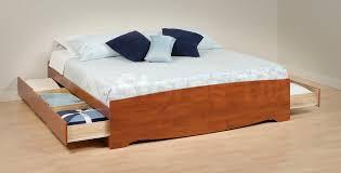 King Platform Storage Bed Prepac Sonoma King Platform Storage Bed Bookcase Headboard