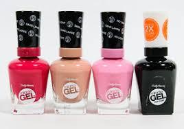 gel nail light sally s beauty 4 sally hansen miracle gel no light nail polish assorted lot 5 ebay