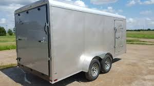 Enclosed Trailer Awning For Sale 7x20 Tandem Axle Cargo Trailers Cargo Trailers For Sale
