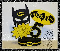 batman centerpieces glitter magic party batman centerpiece personalized with name
