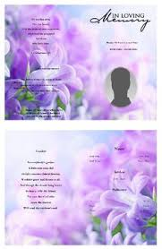 create funeral program using funeral template select size pages