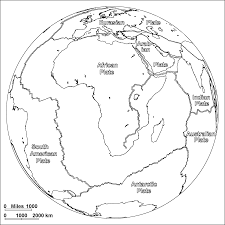 Map Of Tectonic Plates Africanplatebw Gif