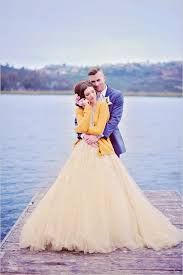 yellow wedding dress top 40 breathtaking water color wedding dress for summer