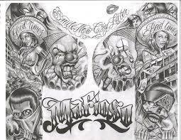 collection of 25 gangsta in prison design