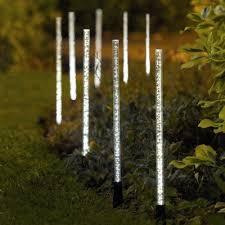 garden mile 8 x led solar light stick solar