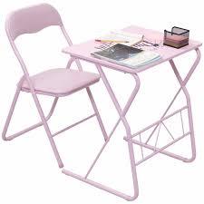 goplus kids folding table chair set modern pink wood study writing desk portable student children home