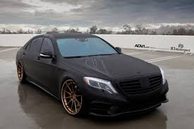 matte black mercedes benz s550 adv10 track spec cs wheels adv