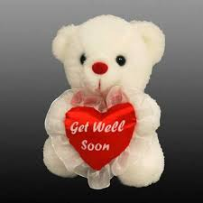 get well soon teddy get well soon teddy 6 inchflower with