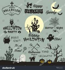 halloween horror nights logo happy halloween design elements halloween design stock vector