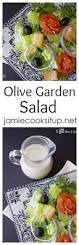 olive garden salad with homemade dressing