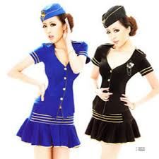 Halloween Flight Attendant Costume Flight Attendant Costume Stewardess Costume Dance Costumes