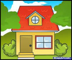 draw house kids step step buildings landmarks