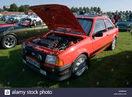 hatchback cars 1980s ford escort xr3 xr3i hatch hatchback 80s 1980s stock photo