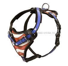 american bulldog harness with usa flag 136 80