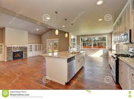 luxury modern kitchen outlook at the luxury modern kitchen in a brand new house stock
