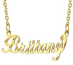 nameplate necklace 14k gold diamond cut name plate necklace page 1 qvc