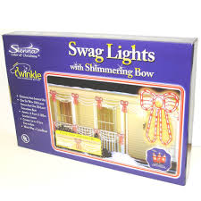 lighted outdoor decorations swag lights with shimmer