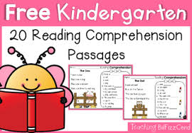 kindergarten reading passage free kindergarten reading comprehension by teaching biilfizzcend