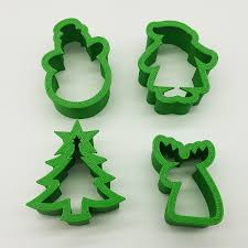 christmas cookie cutter 3 u2033 set santa tree snowman elk u2013 chacopin