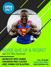 fitness flyer template fitness poster templates postermywall
