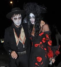 background pictures for newly wed halloween coiple holly willoughby claudia winkleman and the linekers lead the way