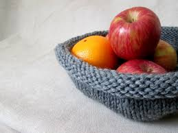 Knitting Home Decor Knit Bowl Pattern Yarn Basket Pattern Shallow Knit Bowl Pattern