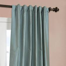 Faux Dupioni Silk Curtains Blue Agave Yarn Dyed Faux Dupioni Silk Curtain Drapes