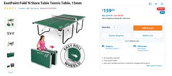 target black friday ping pong table sports fitness fold u0027n store ping pong table 159 reg 300