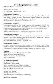 resume exles housekeeping housekeeper resume housekeeping resume sles