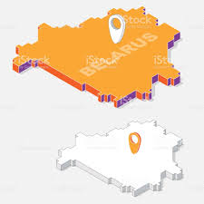 Thailand On World Map by Belarus Flags On Map Element And 3d Isometric Shape Isolated On