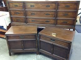 Vintage Bedroom Dresser Bedroom Henredon Caign Dresser And Nightstands Sapphire Blue