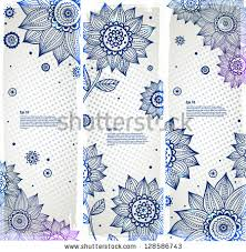 set bookmarks beautiful sunflower ornaments stock vector 128586743