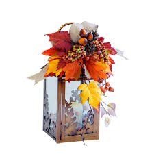 Harvest Home Decor Home Accents Holiday 13 In Small Harvest Lantern With Led Candle
